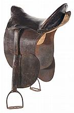 Historic Theodore Roosevelt Presentation Inscribed Western Saddle with Research