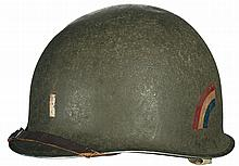 U.S. M1 Helmet Painted for a 1st Lieutenant in the 42nd Infantry Division