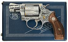 Master Factory Engraved, Inlaid, and Paul Piquette Signed Smith & Wesson Model 60 Double Action Revolver with Inscription and Original Box