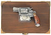 Stunning Dominqos Joaquin Factory Master Engraved and Inlaid Smith & Wesson Model 60 Double Action Revolver with Case