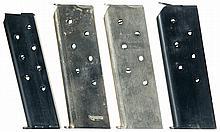 Four Vintage Colt Semi-Automatic Pistol Magazines