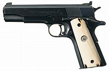 Colt First Year Production National Match Semi-Automatic Pistol with 22 Long Rifle Conversion Kit and Spare Parts