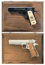 Two Cased Colt Commemorative Semi-Automatic Pistols -A) Colt Model 1911 World War I 2nd Battle of the Marne Commemorative Semi-Automatic Pistol