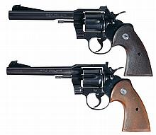 Collector's Lot of Two Colt Double Action Revolvers -A) Colt Officers Model Special 22 LR Double Action Revolver