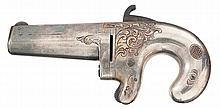 Engraved and Silver Plated National Arms First Model Derringer