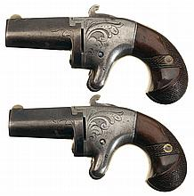 Pair of National Arms Co. Derringers with Scarce Short Barrels -A) National Arms Co. Second Model Derringer