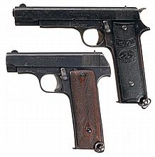 Collector's Lot of Two Spanish Royal Semi-Automatic Pistols -A) M. Zulaica Royal Model Semi-Automatic Pistol