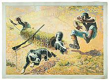 Shoot Them and Avoid Trouble Large Format 1908 Winchester Advertising Lithograph