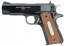 Documented Historic Brigadier General Issued Rock Island Arsenal M15 General Officer's Pistol with Paperwork, Display Case, General Officer's Belt, Holsters and Spare Magazine