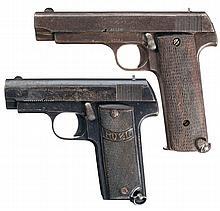 Collector's Lot of Two Spanish Semi-Automatic Pistols -A) M. Zulaica Royal 12 Shot Semi-Automatic Pistol