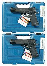 Two Springfield Armory Target Model 1911A1 Semi-Automatic Pistols with Cases -A) Springfield Target Model 1911A1 Pistol