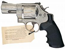 Engraved Smith & Wesson Model 625-4 Special Issue 45 Caliber Model of 1989 Double Action Revolver with Case