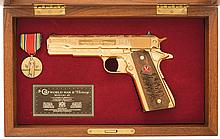 Colt Model 1911A1 Series 80 American Historical Foundation World War II Victory Tribute Semi-Automatic Pistol with Case