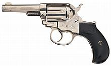 Colt Sherrif's Model 1877 Double Action Revolver with Historic Coffeyville Kansas Sheriff Connelly Back Strap Inscription