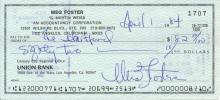 Meg Foster 'The Scarlet Letter' Signed Check