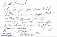 Mary Wilson 'The Supremes' Autograph