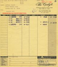 Harrison Ford 1986 Personally Signed Carlye Hotel Folio
