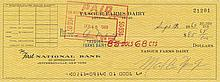 Woodstock 1969 Max Yasgur Farms Dairy Signed Check