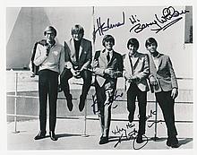 Herman's Hermits Autographed Publicity Photograph