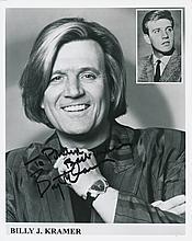 Billy J. Kramer Autographed Publicity Photograph
