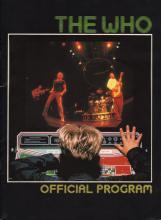 The Who 1982 'Schlitz Rocks America' Concert Tour Program