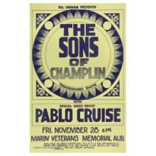 The Sons of Champlin 1975 Bill Graham Concert Poster