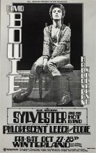 David Bowie 1972 Bill Graham Concert Poster