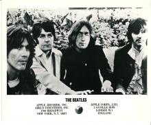 The Beatles Rare Apple Records Promotional Press Photograph