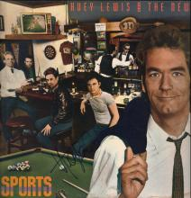 Huey Lewis & The News Autographed 'Sports' LP
