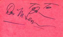 Don McLean 'American Pie' Autograph