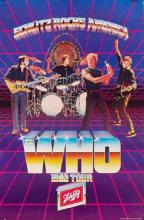 The Who 1982 Concert Poster