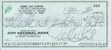 Jamie Lee Curtis Signed Bank Draft