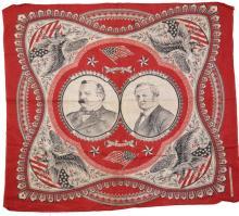 G. Cleveland & T.A. Hendricks 1884 Jugate Campaign Bandana