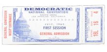 John F. Kennedy 1960 Partial Book of  DNC Tickets
