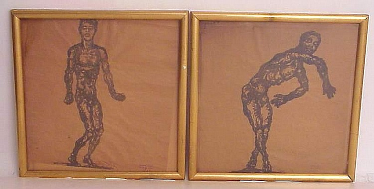 Anton Hanak (1875-1934 Russia) Pair of studies