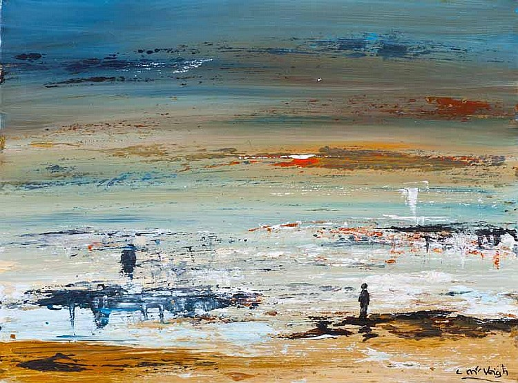 Caroline McVeigh - ICY BLUE MORN, Oil on Canvas,
