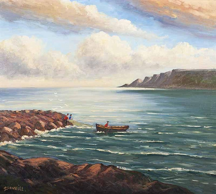 J.J. O'Neill - RED BAY, Oil on Canvas, 26 x 30