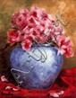 Ken Hamilton (20th Century) - VASE OF FLOWERS, Oil