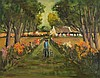 J.J. O'Neill - PATH TO THE COTTAGE - Oil on Canvas - 16 x 20 inches - Signed, J. J. O'Neill, Click for value