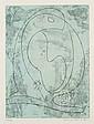 ERNST Max, 1891-1976 Composition, 1963 Eau-forte en couleurs n°16 / 51, signée en bas à droite. 24 x 17,5 cm.