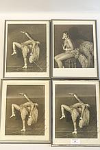 JOSEPHINE BAKER Joséphine Baker, 1926. 4 tirages argentiques dont 2 contretypes, signés