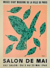 d'après René MAGRITTE Salon de Mai, XXIe salon, 1965 affiche en couleurs pour le Musée d'Art Moderne de la Ville de Paris, signée ...