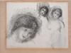 Pierre-Auguste RENOIR La pierre aux trois croquis, 1904 gravure en noir (taches et insolation sur les bords), signée en bas à gauc...