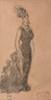 Constantin GUYS Élégante mine de plomb et lavis brun (légère insolation), porte en bas à droite un cachet rouge COLLECTION NADAR (...