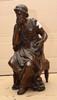 PILLET Aristophane bronze à patine brune (quelques usures), sur l'arrière : Pillet, Ht. : 31 cm.