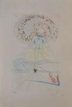 d'après Salvador DALI Composition eau-forte en couleurs (petites pliures), en bas à droite : Dali, en bas à gauche : 115/250, 56,5...