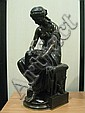 Aizelin Eugene (1821-1902) Psyche Proof in patinated bronze, signed and dated