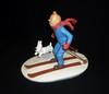HERGE (Hergé) - Tintin ski - Statuette en résine de Tintin et Milou au...