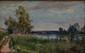 Paul LOUCHET Chemin au bord de rivière, 1903 Huile