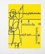ADAMI Valerio 1935-   Lithographie signée - 50 x 42 cm